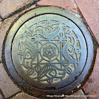 札幌市汚水桝デザインハンドホール蓋:カッコウ