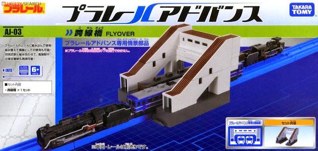 Sản phẩm Mô hình Cầu vượt cho tầu hỏa nhỏ AJ-03 Flyover chất liệu bằng nhựa cao cấp an toàn