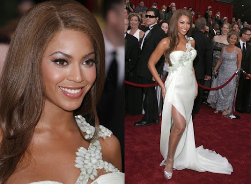 Beyonce at the 2007 Oscar Red Carpet