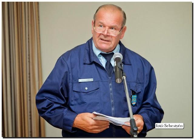 Kovács Imre Vesprém megyei elnök ismerteti az elért eredményeket