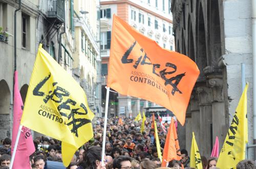 Betoging in Genova van 'Libera'