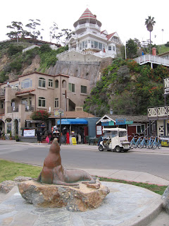 Old Ben statue in Avalon on Santa Catalina Island