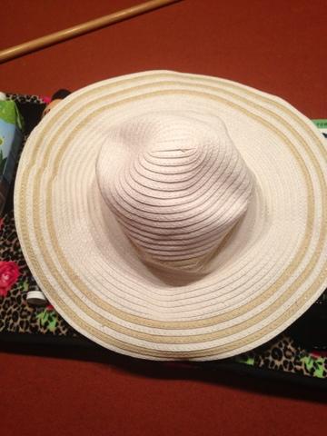 Last but not least is a super cute, floppy beach hat. I got this one ...