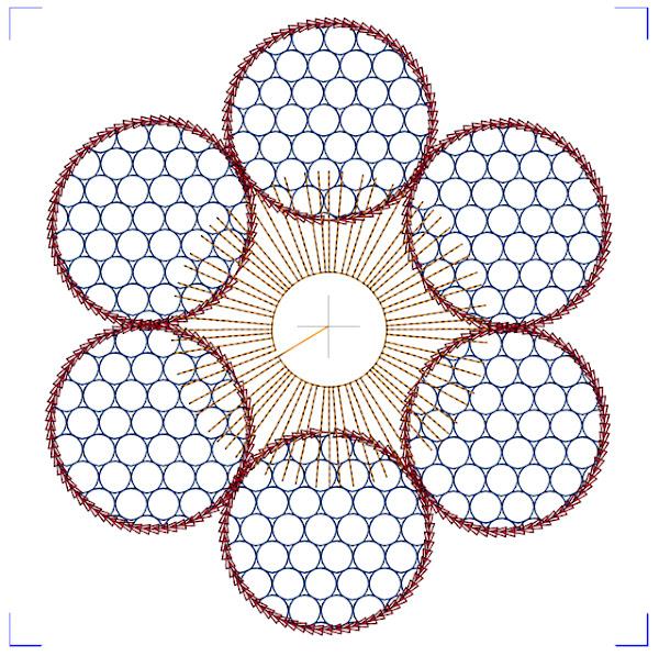 Design lagd i 5D QuiltDesign Creator, med utgangspunkt i en skisse fra min IPad.