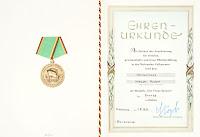 151a Medaille für treue Dienste in der Nationale Volksarmee für 5 Dienstjahre www.ddrmedailles.nl