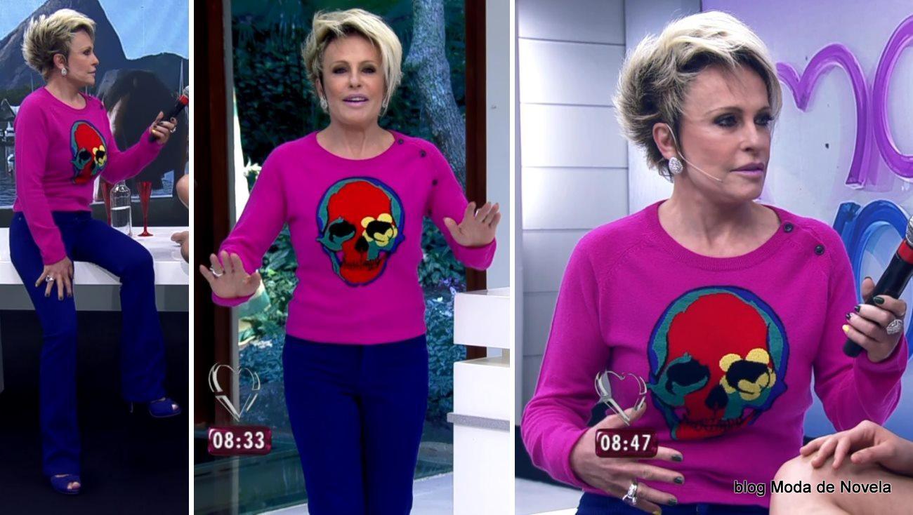 moda do programa Mais Você - look da Ana Maria Braga dia 4 de junho