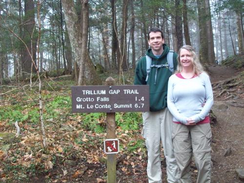 900 miles: Grotto Falls - Trillium Gap Trail