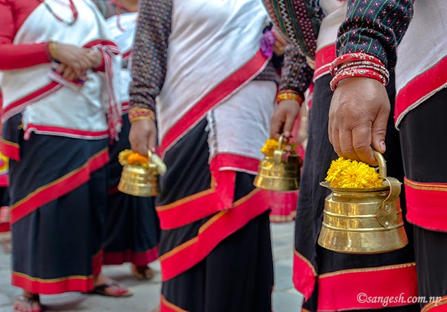 Procession during the Nepal Sambat celebrations