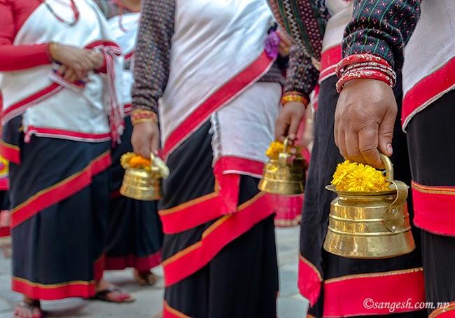 Procession during the Nepal Sambat celebrations