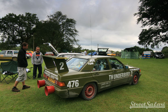 Thunderbird 2 Rally Art Car Takes to the Streets For Kids with Cancer Fund
