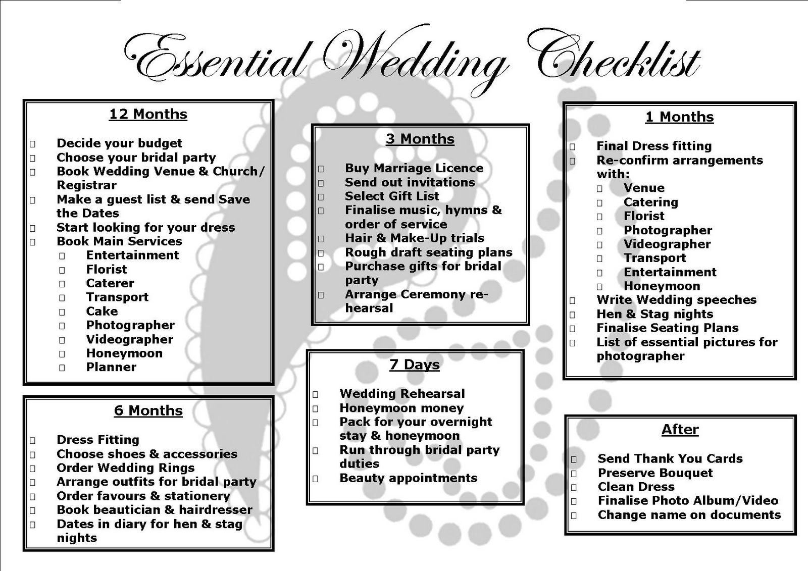 Renfrewshire Wedding Directory: Essential Wedding Checklist