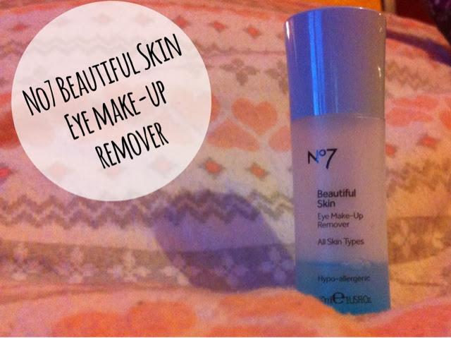 No 7 eye makeup remover