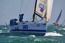 J/111 one-design sailbot- sailing in SPI Ouest France regatta
