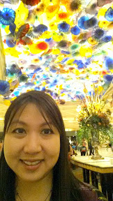 obligatory admiration and selfie with the Dale Chihuly created Fiori di Como glass sculpture in the Bellagio lobby