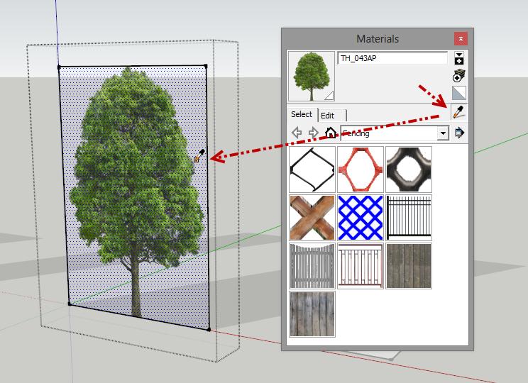 การกำหนดค่า Material ของต้นไม้แบบ 2D ให้มีความโปร่งใส Vraytree16