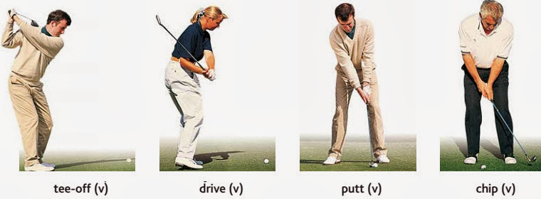 action %2520tee off%252C%2520drive%252C%2520putt%252C%2520chip Actions people english through pictures