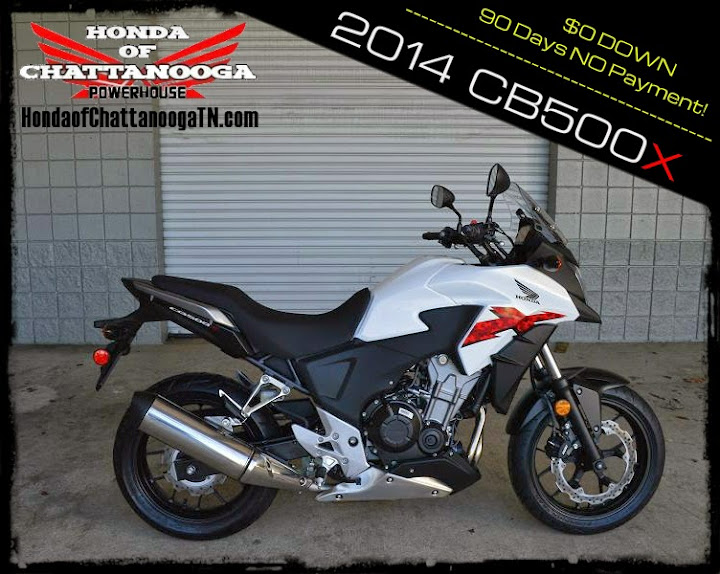 2014 CB500X For Sale Chattanooga TN GA AL Honda of Chattanooga Wholesale Motorcycle Dealer White CB500X