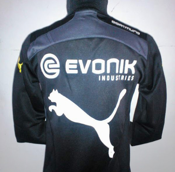 Jaket Dortmund Training Warna Hitam 2014