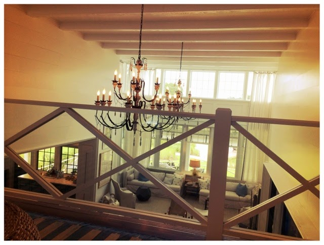 Loft looking into the living room.  2014 Southern Living Idea House in Palmetto Bluff, SC | The Lowcountry Lady