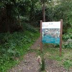 Sign behind 8th Tee (55631)