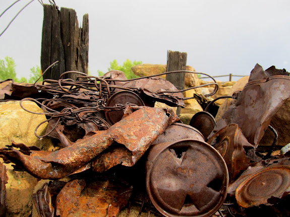 Old metal junk at Halfway Stage Station