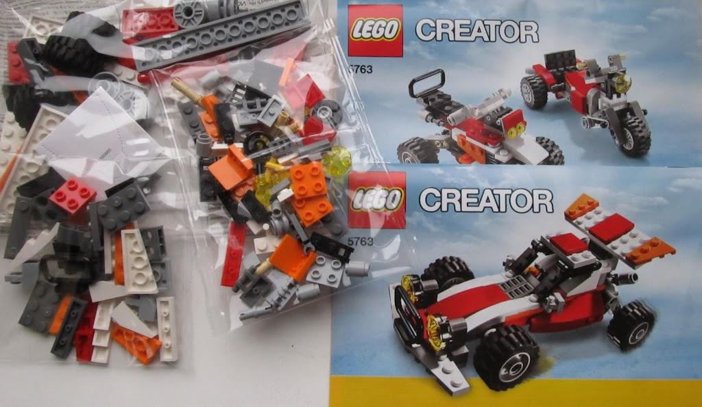 LEGO Дюнохід - вміст коробки