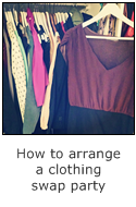 how to arrange a clothing swap party