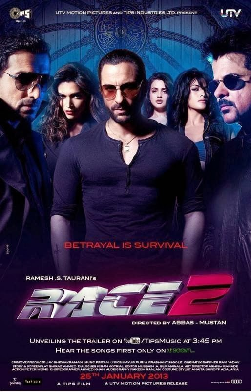 Poster Of Hindi Movie Race 2 (2013) Free Download Full New Hindi Movie Watch Online At alldownloads4u.com