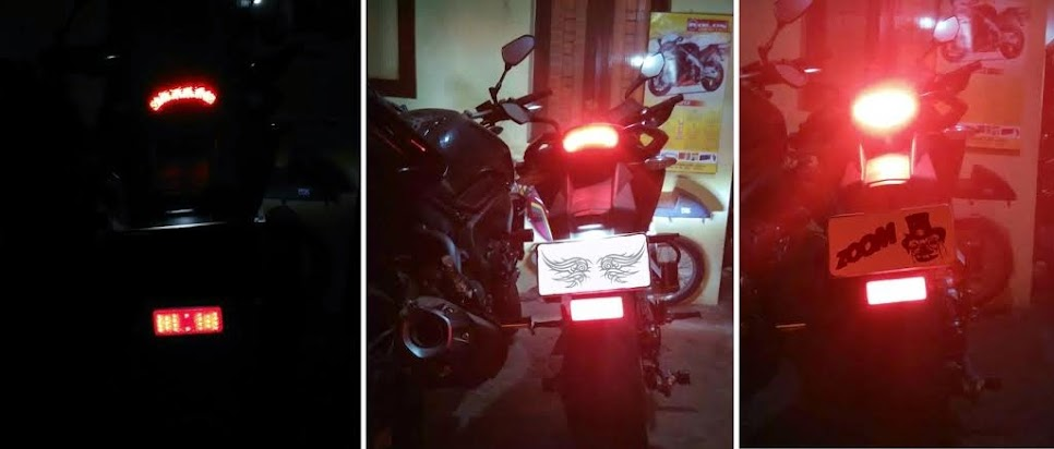 LED light on KTM Duke 1