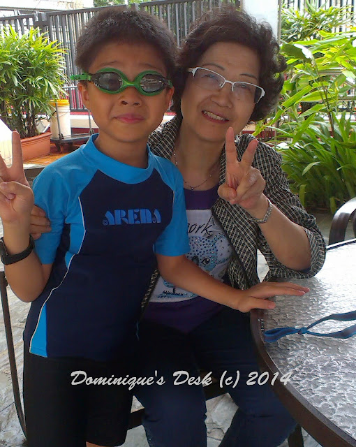 Doggie boy with Ah Ma