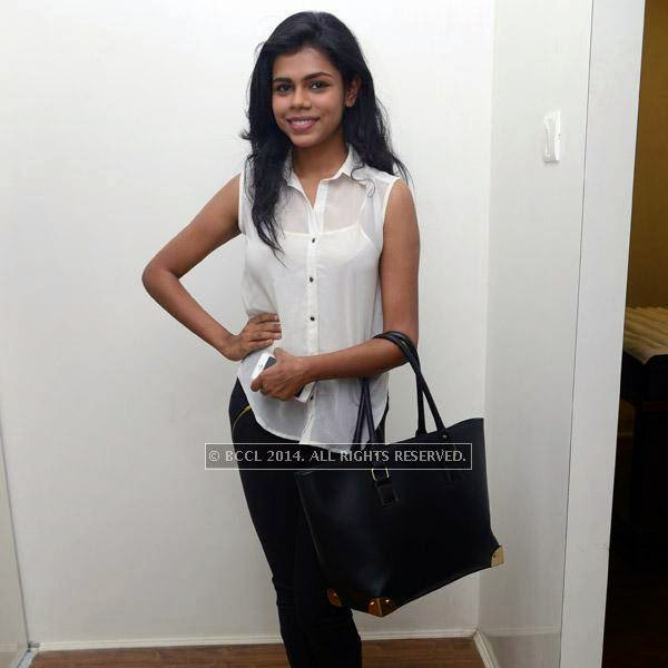 Anjana during the launch of salon 'Essensuals', in Chennai.