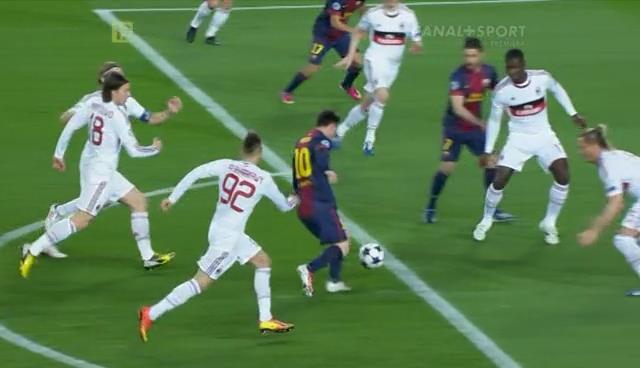 Messi, Barcelona - AC Milan