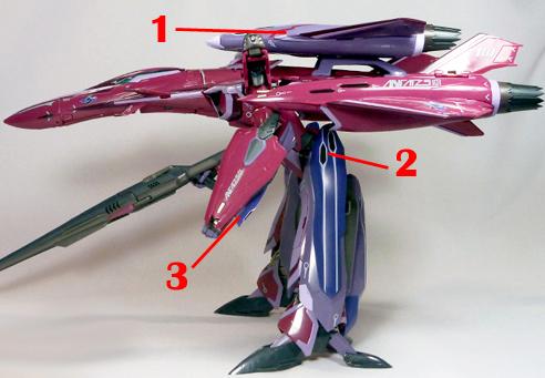 Macross Frontier VF-27 Super Lucifer Armament weapon position