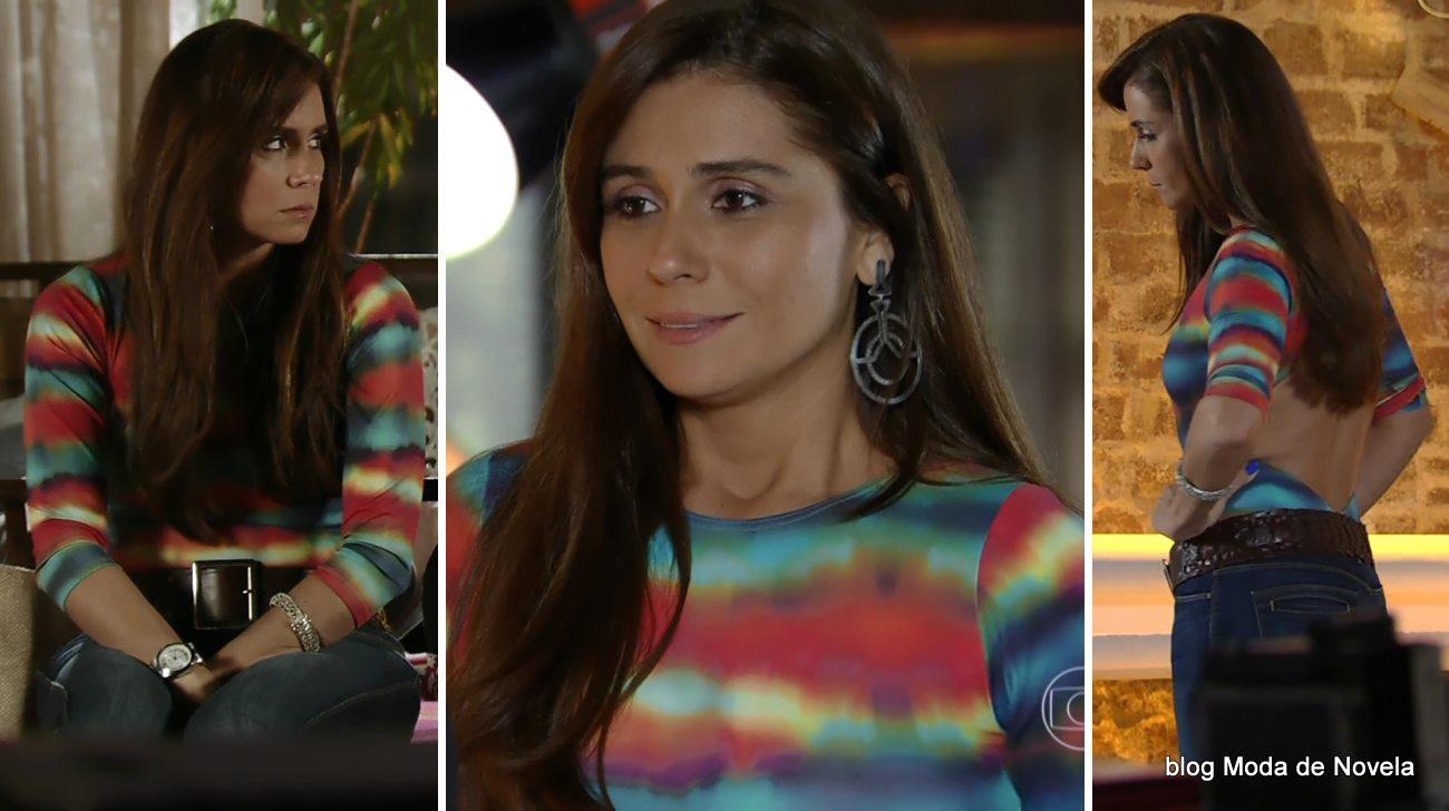 moda da novela Em Família - look da Clara