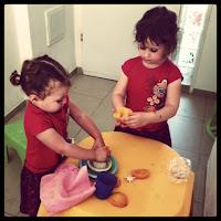 Involve the kids squeezing oranges
