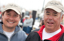 Andy Costello (left) and Peter Kreuger (right)- co-owners of J/125 DOUBLE TROUBLE