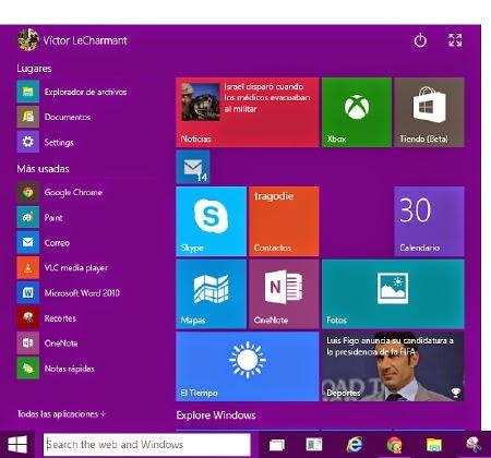 Cómo personalizar el menú de inicio en Windows 10