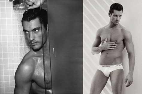 David Gandy, en la ducha