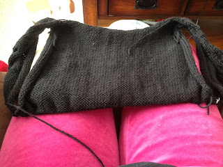 Marion, Cardigan, Andi Satterlund, black cardigan, woman's cardigan, knitting, women's knitting