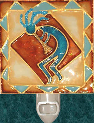 stained glass kokopelli dancer