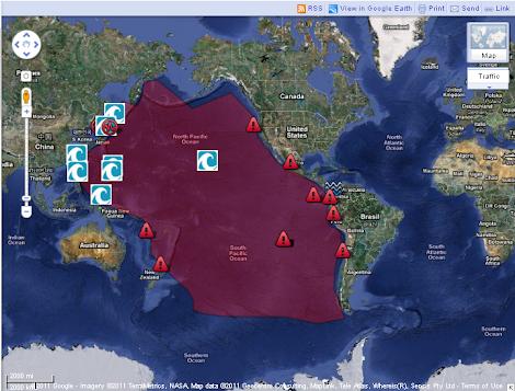 Mapa Terremoto Japon