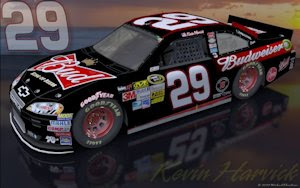 Kevin Harvick Budweiser Sunset Outdoors Wallpaper