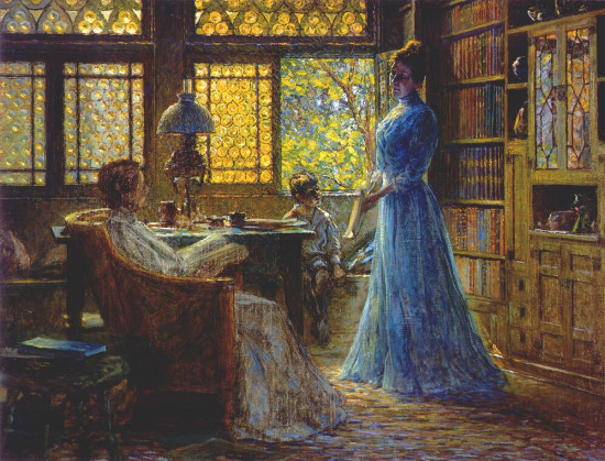 J. Otis Adams - Library at the Hermitage