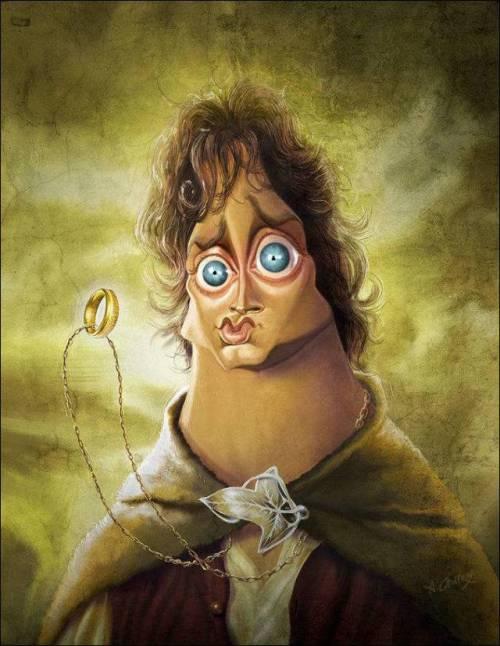 Элайджа Вуд - 18 юмористических карикатур на знаменитостей из 15 известных кинолент