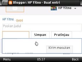 isi artikel blogspot
