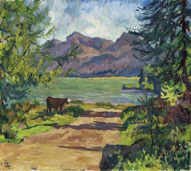 Giovanni Giacometti - Lake Sils, 1931