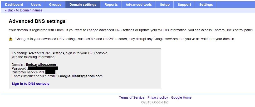 Transfer Google Site/eNom Domain to HostGator but Keep
