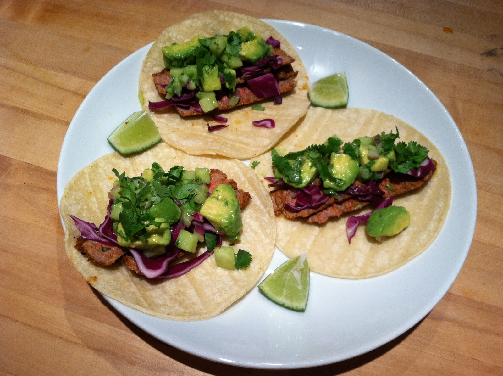 steak tacos with cucumber avocado salsa