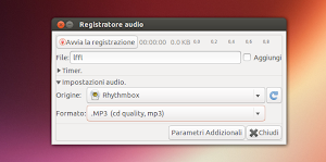 Audio Recorder 1.1.1 su Ubuntu 13.04 Raring