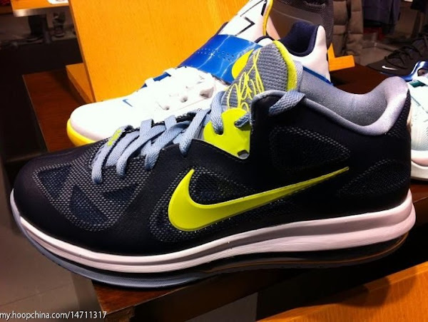 Upcoming Nike LeBron 9 Low 8220ObsidianCyberWhiteBlue Grey8221